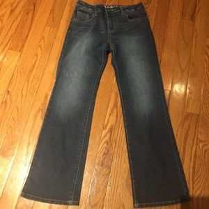 Girls Crazy 8 boot cut jeans like new condition